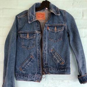 Levi's zip up denim jacket